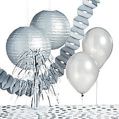 Silver Party Decorating Kit