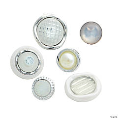 Silver Pearl & Jewel Button Assortment
