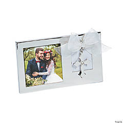 Silver Picture Frame with Cross