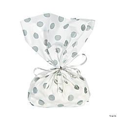 Silver Polka Dot Cellophane Bags