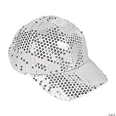 Silver Sequin Baseball Hat