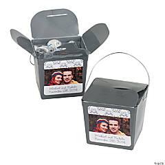 Silver Swirl Custom Photo Take Out Boxes