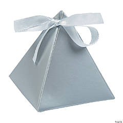 Silver Triangle Favor Boxes