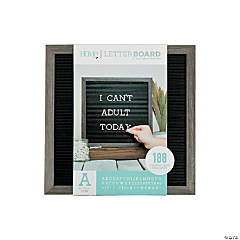 Silver Walnut Letter Board Kit - 12""