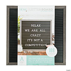 Silver Walnut Letter Board Kit - 16