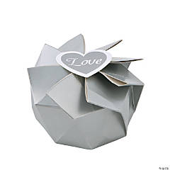 Silver Wedding Blossom Boxes
