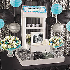 Silver Wedding Candy Buffet Idea