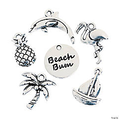 Silvertone Beach Bum Charms