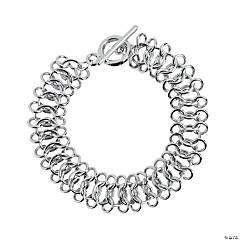 Silvertone Chain Mail Bracelet - 7 3/4