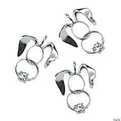 Silvertone Easter Bunny Cutout Charms - 25mm