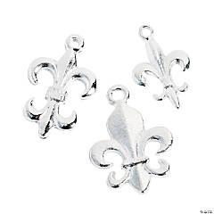 Silvertone Fleur De Lis Charms