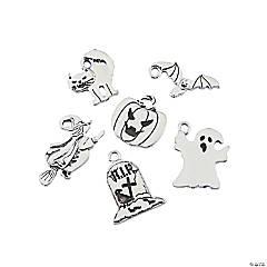 Silvertone Halloween Charm Assortment