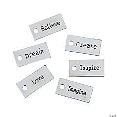 Silvertone Inspirational Word Charms
