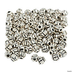 Silvertone Lantern Spacer Beads - 5mm