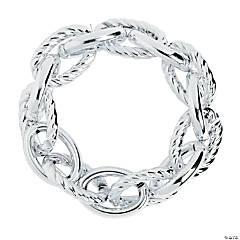 Silvertone Large Link Bracelets