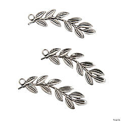 Silvertone Leaves Charms