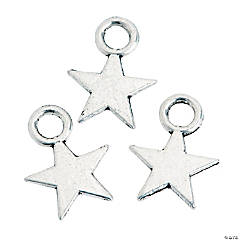 Silvertone Mini Star Charms