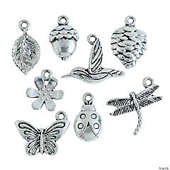 Silvertone Nature Lover Charms