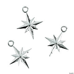 Silvertone North Star Charms - 20mm