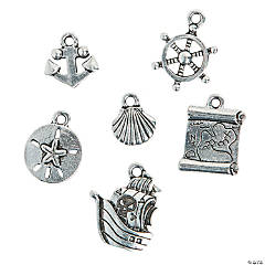 Silvertone Pirate Charms