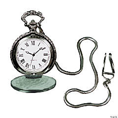 Silvertone Pocket Watch with Chain