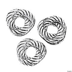 Silvertone Rope Knot Beads - 6mm