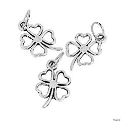 Silvertone Shamrock Charms - 11mm