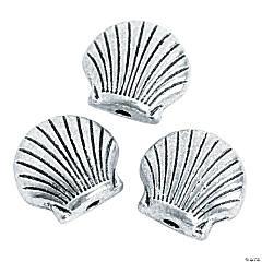 Silvertone Shell Beads - 8mm