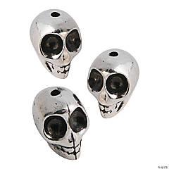 Silvertone Skull Beads - 16mm