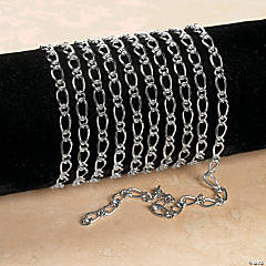 Silvertone Small Double Oval Link Chain
