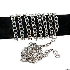 Silvertone Teardrop Chains