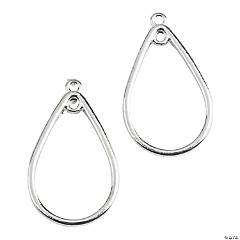 Silvertone Teardrop Earrings