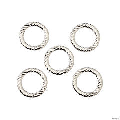 Silvertone Twisted Rings