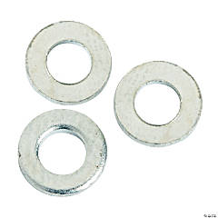 Silvertone Washer Spacer Beads - 6mm