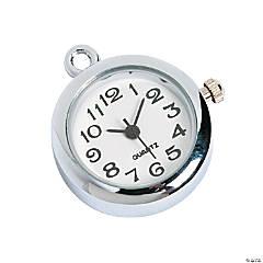 Silvertone Watch Charm