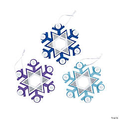 Simple Button Snowflake Ornament Craft Kit