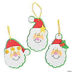 Simple Santa Christmas Ornament Craft Kit - Makes 12
