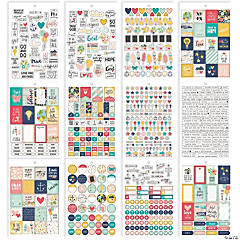 Simple Stories Carpe Diem Faith A5 Stickers 12/Pkg