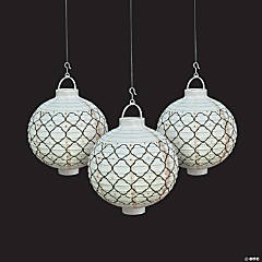 Simply Timeless Light-Up Hanging Paper Lanterns