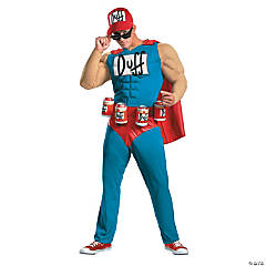 Simpsons Duffman Muscle Adult Men's Costume