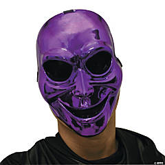 Sinister Ghost Halloween Mask Purple