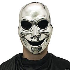 Sinister Ghost Halloween Mask Silver