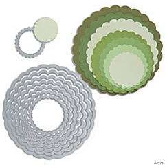 Sizzix Framelits Dies 8/Pkg-Scallop Circles