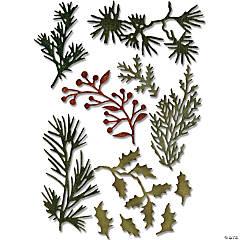 Sizzix Thinlits Dies By Tim Holtz 11/Pkg-Mini Holiday Greens