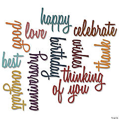 Sizzix Thinlits Dies By Tim Holtz 13/Pkg-Celebration Script Words