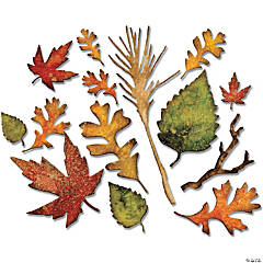 Sizzix Thinlits Dies By Tim Holtz 14/Pkg-Fall Foliage