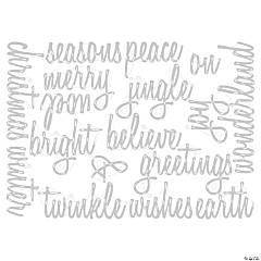 Sizzix Thinlits Dies By Tim Holtz 17/Pkg-Script Holiday Words