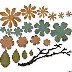 Sizzix Thinlits Dies By Tim Holtz 21/Pkg-Small Tattered Florals