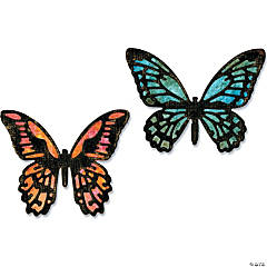Sizzix Thinlits Dies By Tim Holtz 4/Pkg-Mini Detailed Butterflies