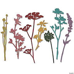 Sizzix Thinlits Dies By Tim Holtz 7/Pkg-Wildflowers
